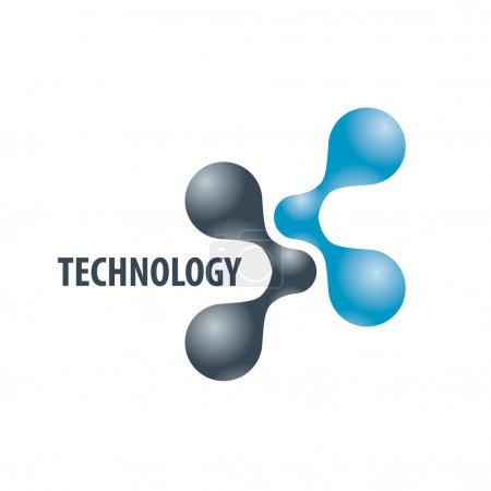 Illustration for Technology logo in the form of atoms - Royalty Free Image