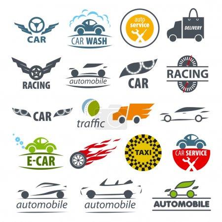 Illustration pour Plus grande collection de logos vectoriels Voiture - image libre de droit