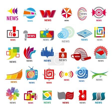 Illustration pour Plus grande collection de nouvelles de logos vectoriels - image libre de droit