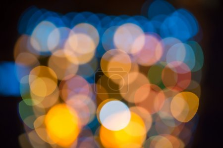 Blurring lights bokeh background