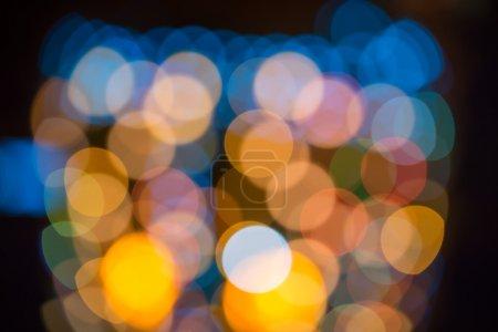 blurring lights bokeh background