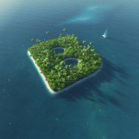 Alfabeto insular. Paraíso isla tropical en forma de letra B