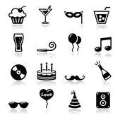 Party sada ikon - narozeniny, nový rok, Vánoce