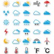 Black icons set - weather conditions, seasons with...