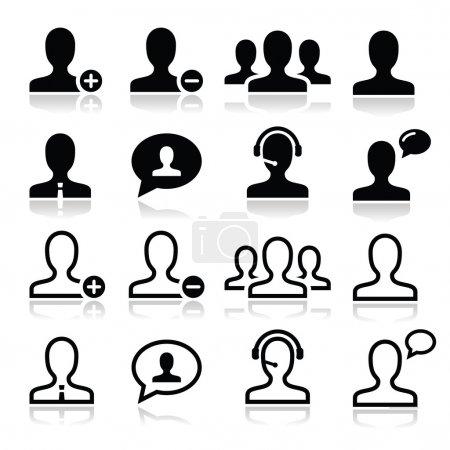 User man avatar icons set
