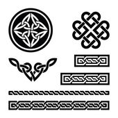Set od traditional Celtic symbols in black