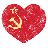 Communism USSR - Soviet union retro heart flag