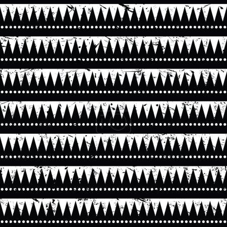 Seamless aztec tribal pattern- grunge, retro style