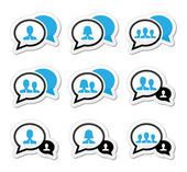 Business-Meeting, Kommunikation Icons set