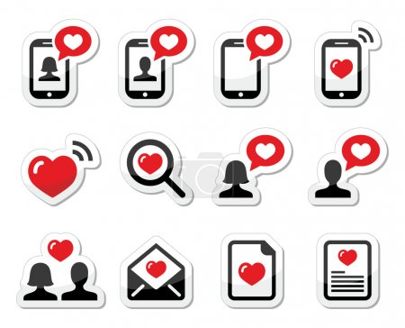 Love, couples, Valentine's Day icons set
