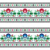 Bezešvé polské lidové vzorek s květinami