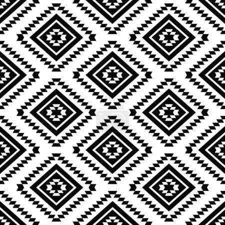 Illustration pour Vecteur transparente ornement aztèque, motif ethnique - image libre de droit
