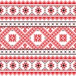 Ethnic seamless Ukrainian print in red an grey on ...