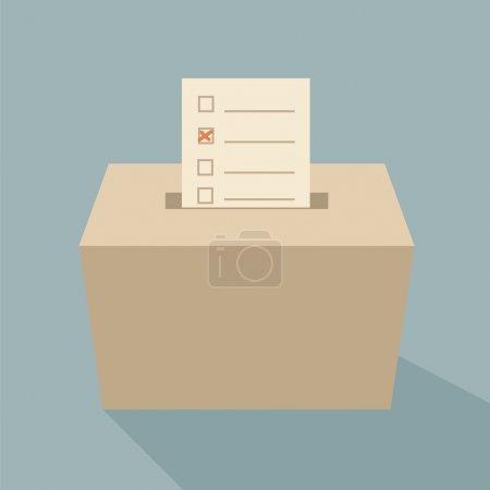 Photo pour Urne vote - image libre de droit