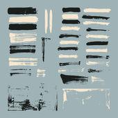 Set of paint brush strokes