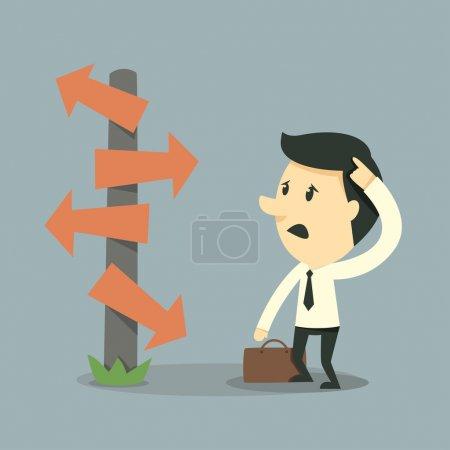 Illustration for Businessman choice illustration - Royalty Free Image