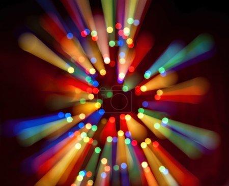 Photo pour Fond abstrait bokeh d'ampoules colorées en mouvement - image libre de droit