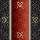 Elegant vintage with damask wallpaper