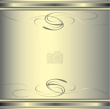 Illustration for Elegant golden vintage flourishes and gilded edges - Royalty Free Image