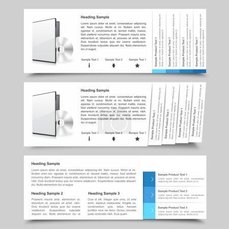 Illustration pour Ensemble de trois modèles de diapositives web unique - image libre de droit