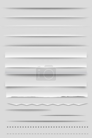 Illustration for Set of Web Dividers and Shadows - Royalty Free Image