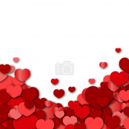 Illustration for Valentines Day Background - Royalty Free Image