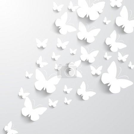 Illustration pour Fond avec des papillons - image libre de droit