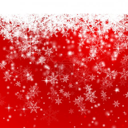 Illustration of Red Snowflake Background