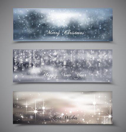 Illustration pour Jeu de Noël, nouvel an bannières de vector - image libre de droit
