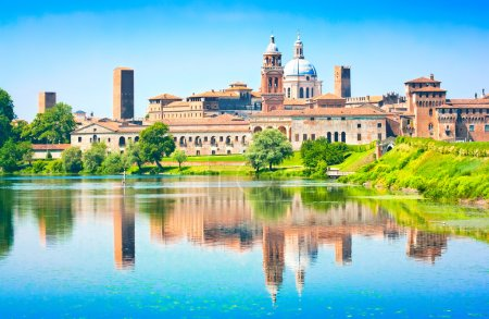 Medieval city of Mantua in Lombardy, Italy....