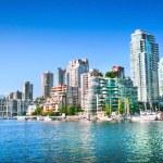 Vancouver downtown skyline at False Creek, British...