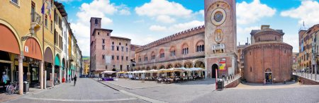 City center of the historic town of Mantua in Lomb...