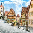 Beautiful view of the historic town of Rothenburg ...