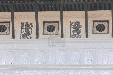Hindu gods wall paintings -Hanuman and Narasimha- ...