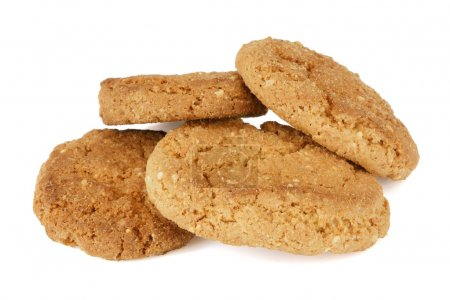 Photo for Oatmeal cookies on white background. - Royalty Free Image