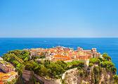 Panoramic view of Monaco with Princes Palace