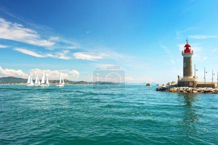 Lighthouse of St. Tropez. beautiful mediterranean landscape
