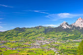 Alpine landscape with beautiful blue sky