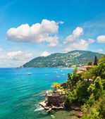 Beautiful mediterranean landscape with cloudy blue sky