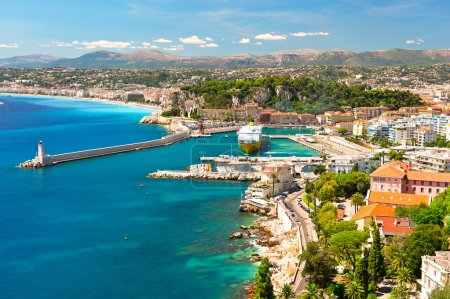Photo for View of Nice, mediterranean resort, Cote d'Azur, France - Royalty Free Image