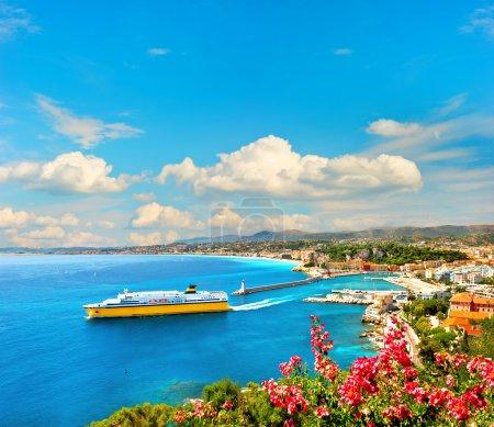 View of mediterranean resort Nice, French riviera
