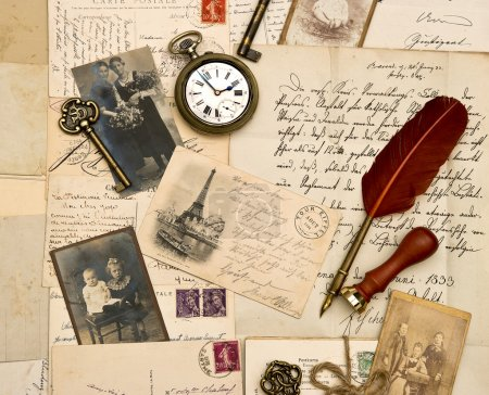 Old photos, letters and post cards