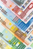 Euro currency banknotes background