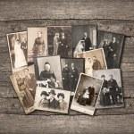 Group of vintage family and wedding photos circa 1...