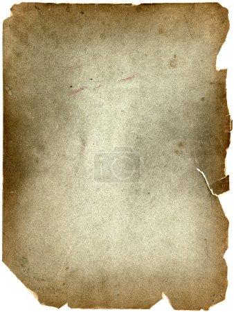 Photo pour Vieille feuille de papier grunge vintage isolée sur fond blanc - image libre de droit