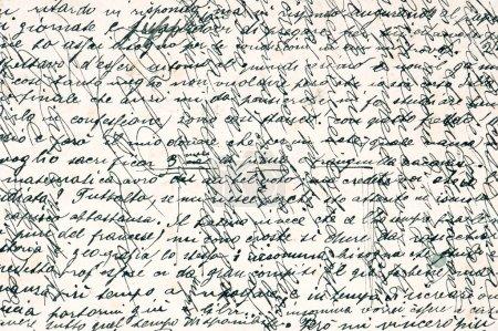 Photo pour Vieux texte manuscrit en langue italienne à partir de ca. 1902. fond vintage grunge - image libre de droit