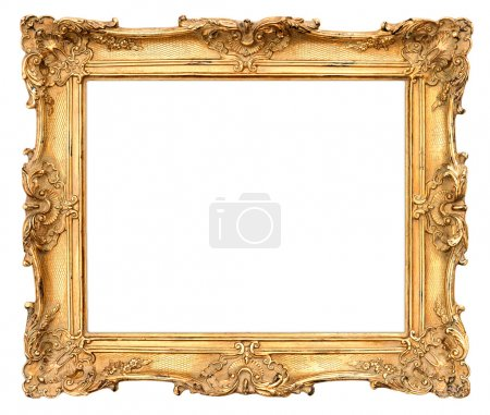 Photo for Old golden frame. beautiful vintage background - Royalty Free Image
