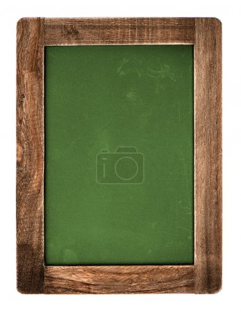 vintage green chalkboard isolated on white
