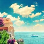 Beautiful mediterranean beach landscape, Provence,...