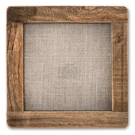 Vintage rustic wooden frame